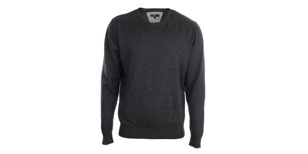 Pánsky antracitový sveter Loram