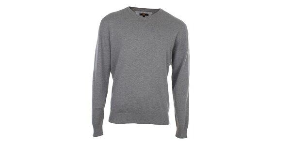 Pánsky šedý sveter Loram