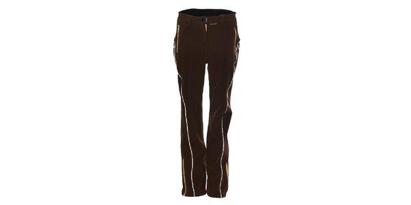 c8ac9bd2e491 Dámske tmavo hnedé softshellové lyžiarske nohavice Trimm