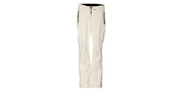 Dámske biele softshellové lyžiarske nohavice Trimm