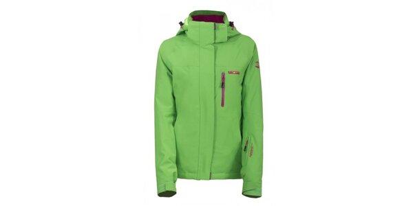 Dámska svetlo zelená lyžiarska bunda Envy