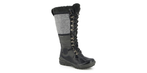 Dámske čierno-šedé snehule Kimberfeel