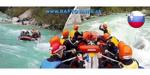 4-dňový rafting v Slovinsku leto 2015
