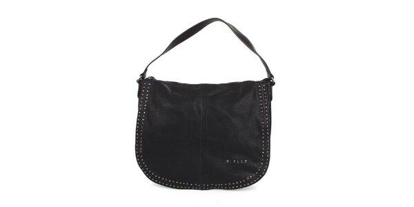Dámska čierna ocvokovaná kabelka Sisley