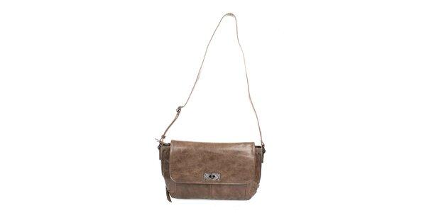Dámska béžová spoločenská kabelka Sisley