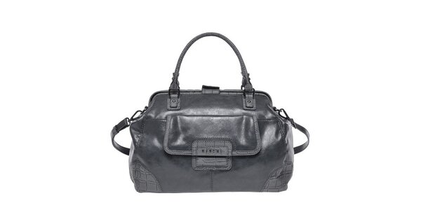 Dámska šedá kabelka s popruhom Sisley