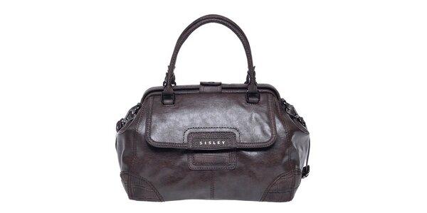 Dámska hnedá kabelka s popruhom Sisley