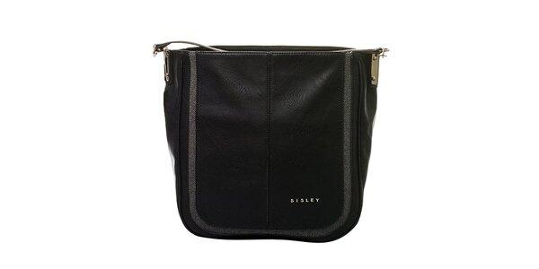 Dámska čierna kabelka s jedným pútkom Sisley