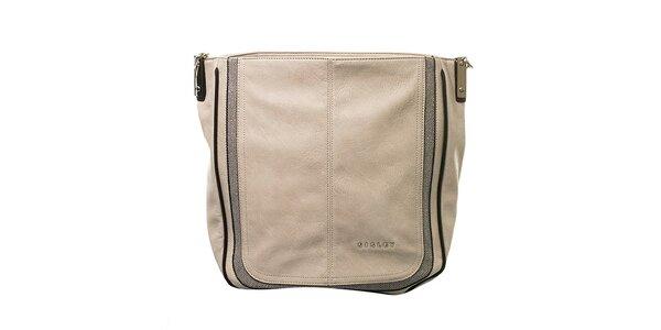 Dámska béžová kabelka s jedným pútkom Sisley