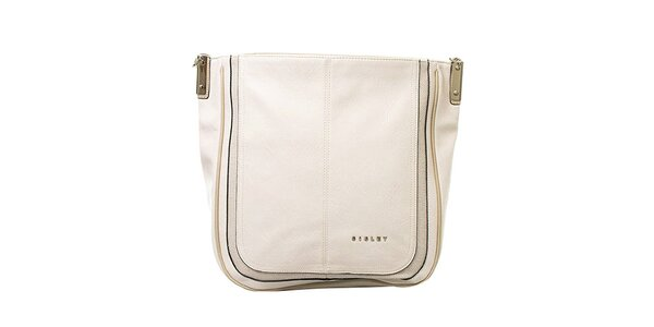 Dámska krémová kabelka s jedným pútkom Sisley