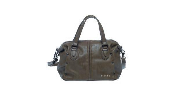 Dámska šedo-hnedá kabelka s ramenným popruhom Sisley