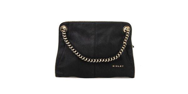 Dámska čierna kabelka s kombinovaným pútkom Sisley