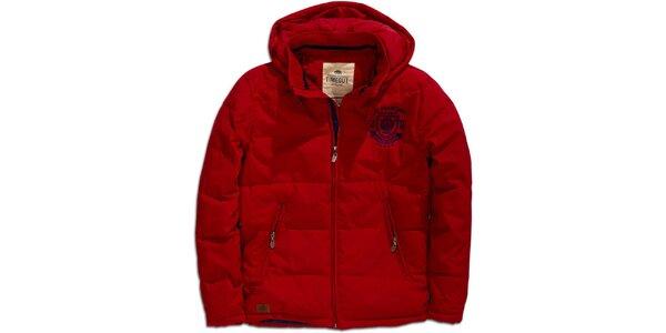 Pánska červená zimná bunda s kapucňou Timeout