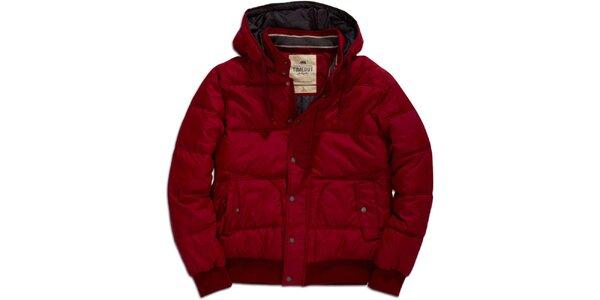 Pánska červená bunda s kapucňou Timeout