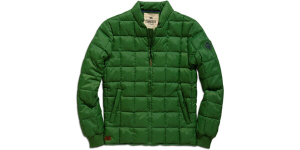 Pánska zelená zimná bunda s prešívaním Timeout