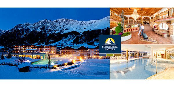 Lyžovačka a wellness v Alpách pre 2 osoby