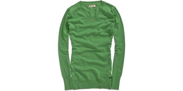Dámsky dlhší zelený sveter Timeout