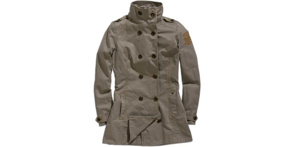 Dámsky dvojradový kabátik Timeout