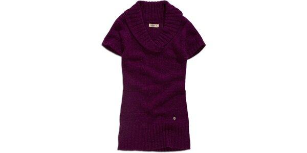 Dámsky fialový sveter s krátkym rukávom Timeout