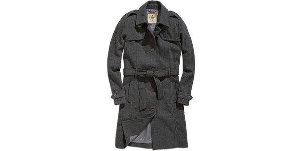 Dámsky šedý kabát Timeout