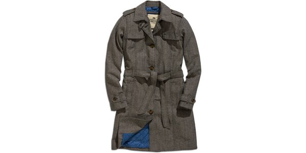 Dámsky šedý zimný kabát Timeout
