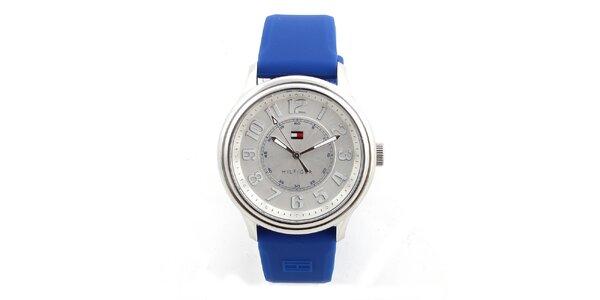 Dámske analógové hodinky s modrým silikónovým remienok Tommy Hilfiger