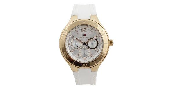 Dámske analógové hodinky so silikónovým remienok Tommy Hilfiger