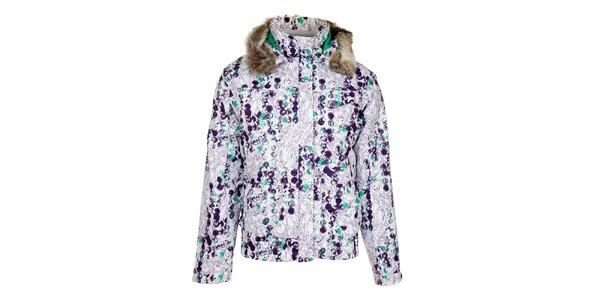 Dámska biela zimná bunda s potlačou Loap