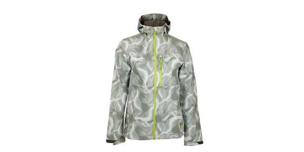 Pánska šedo-biela softshellová bunda Loap