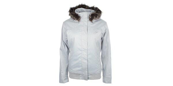 Dámska zimná bunda s kožúškovým lemom Loap