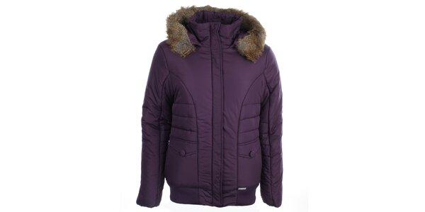 Dámska fialová bunda s kapucňou Loap