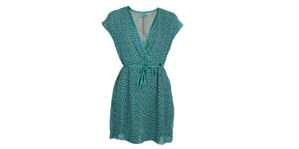 Dámske tyrkysové šaty so vzorom Phard