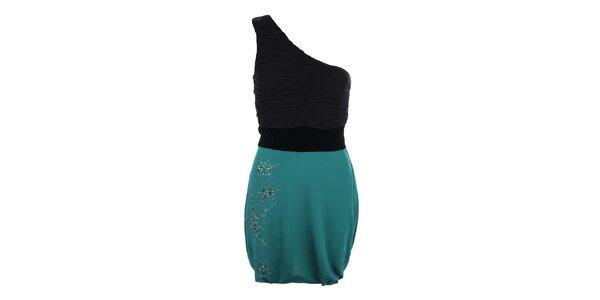 Dámske šaty s tyrkysovou sukňou Phard