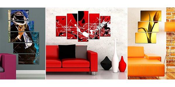 Zaujímavé a netradičné 5-dielne obrazy na stenu