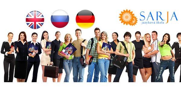 Kurzy angličtiny, nemčiny alebo ruštiny