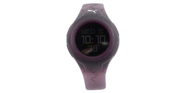Dámske digitálne fialové hodinky Puma