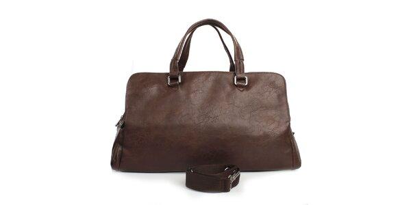 Hnedá taška s tromi vreckami na zips Bobby Black
