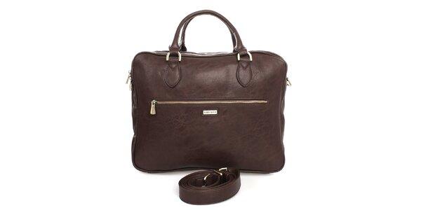 Hnedá taška na laptop Bobby Black