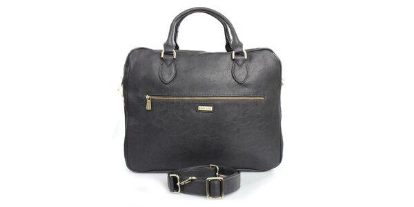 Antracitová taška na laptop Bobby Black