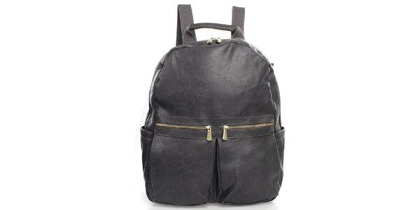 Sivý ruksak Bobby Black