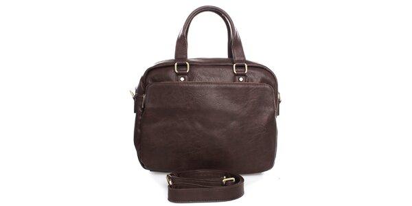 Hnedá taška do ruky alebo cez rameno Bobby Black