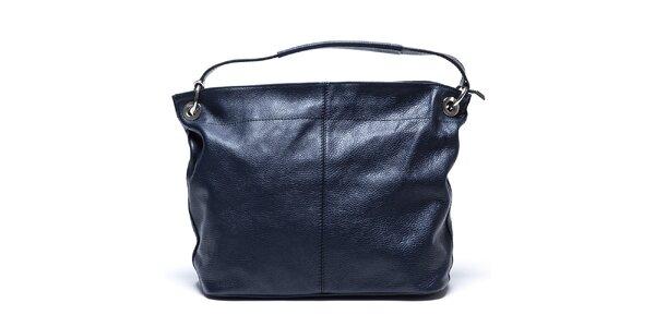 Dámska tmavo modrá kabelka s vonkajším vreckom Mangotti