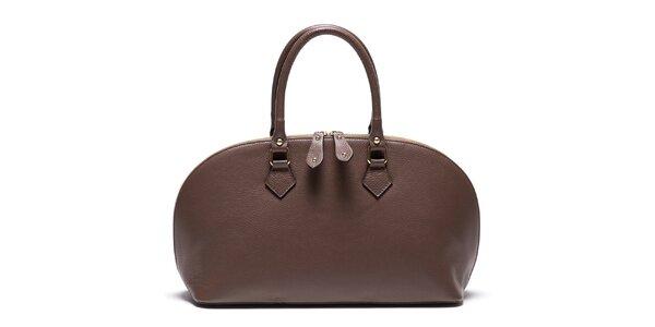 Dámska kožená kabelka so zipsom Mangotti