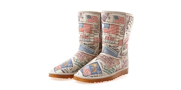 Dámske krémové topánky s potlačou Elite Goby