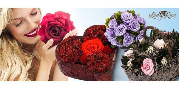 Krásne darčeky z večných ruží