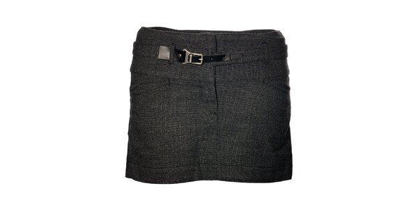 Dámska tmavo šedá mini sukňa Gas