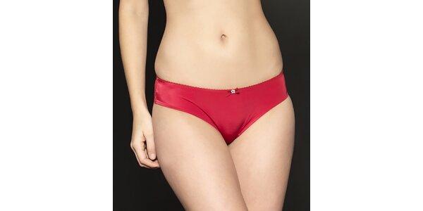 Dámske červené saténové nohavičky After Eden s čipkou
