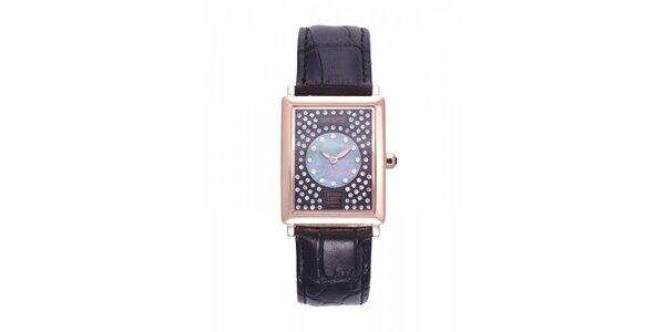 Dámske zlaté hodinky Lancaster s kryštálmi