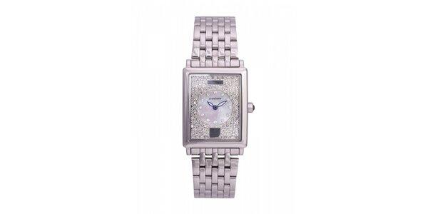 Dámske oceľové hodinky Lancaster s kryštálmi