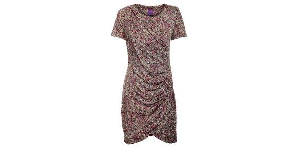 Dámske šedo-ružové šaty Hope s kvetinovým vzorom